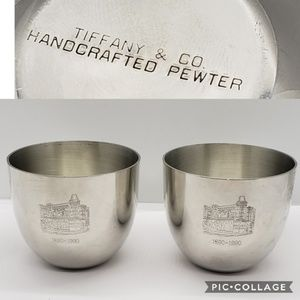 2 Tiffany & Co. Commemorative Pewter Cups